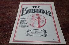 The Entertainer Sheet Music Black Americana Scott Joplin 1972 Ragtime piano