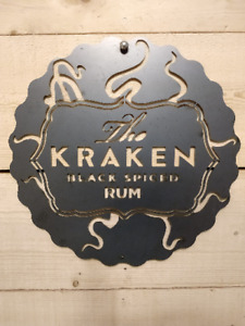 Premium Karken Rum Metal Sign Wall Art Raw Steel Hand Finished pub bar vodka