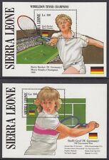 SIERRA LEONE:1987 Wimbledon Tennis Champions M/sheet(2) SGMS1076NMH