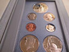1986-S US PRESTIGE PROOF SET 7 COINS BOX & COA  995