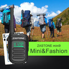 Zastone Mini9 Portable Walkie Talkie Transceiver 2 Way Ham Radio UHF400-470mHz