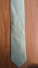 Countess Mara Tie Green/White 100% Silk Hand Made 60% OFF