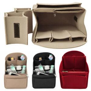 Felt Travel Bag Insert Backpack Organizer for Mummy Shoulder Tote Bags Case