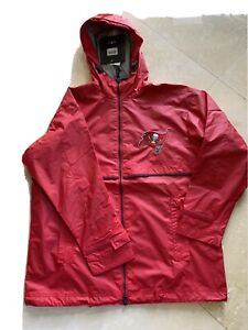 Charles River Apparel Tampa Bay Buccaneers Reflector Rain Proof Zipped Jacket Xl