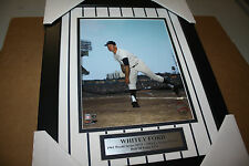 NY YANKEES WHITEY FORD #16 FRAMED 8X10 PHOTO HOF/CY YOUNG WINNER