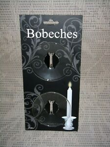 "Glass Candle Bobeches Hosley Candle Company 2.6"" New"
