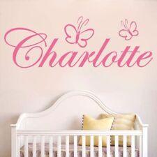 Personalized Custom Name Butterfly Girls Bedroom Nursery Kids Room Wall Sticker