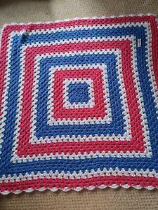 Beautiful Small Crochet Blanket, Handmade