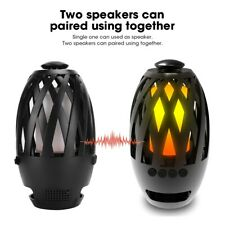 Wireless Bluetooth Flame Light Portable Speaker Stereo HiFi Torch Lamp Subwoofer