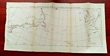 1921 U.S.C.& G.S. Gnomonic Projection Sketch Map of North Atlantic Azores