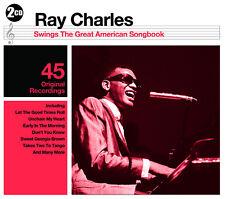 2 CD BOX RAY CHARLES SWINGS GREAT AMERICAN SONGBOOK SWEET GEORGIA BROWN ETC