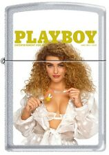Zippo Playboy June 1992 Cover Satin Chrome Windproof Lighter NEW RARE