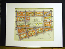 Brooklyn Map 1929 Matted BEDFORD S. 3rd - 9th MARCY BROADWAY HAVEMEYER DRIGGS