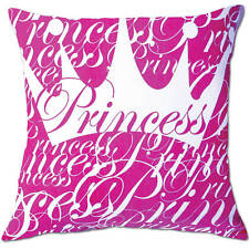 princess crown pink and white childrens cushion covers