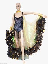 Da NeeNa C002S Vegas Cabaret Stage Sequin Trimmed Edges Ruffle Boa Coat
