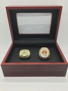 2 Pcs Tampa bay Buccaneers Super Bowl Ring Set with Display Box