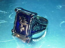 Final Fantasy VIII 8 FF8 Amber Marcasite Ring