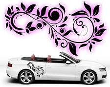 f4 SET OF 2 Swirl Flower Vinyl Art Car Graphics Stickers Decals Big Many colours