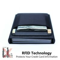 Men Business Wallet Metal ID Card Holder Aluminum Credit Coin Purse with Pocket
