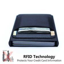 Men RFID Blocking ID Credit Card Holder Slim Money Travel Wallet Stainless Steel