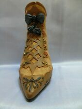 Willow Hall age of Elegance Collectible Boot Gold Deluxe #7210