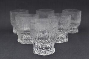 "Set of 6 Iittala ""Aslak"" Whiskey Glasses by Tapio Wirkkala , Finland 1970s"