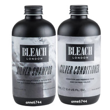 Bleach London SILVER Shampoo & SILVER Conditioner - 250ml  x 2 - New Stock