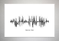 Beyonce - Halo - Sound Wave Print Poster Art