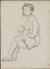 Dessin du XXe siècle et contemporains personnage pour Art déco