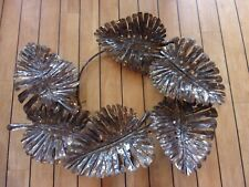 Hand Made Metal Iron Wall Art Tropical Leaves - 68cm x 90cm