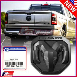 New OEM 2000-2022 Dodge Ram 1500 3500 Matte Black RAMs Head Logo Tailgate Emblem