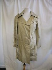 Ladies Coat Diane von Furstenberg, size 4, nude w/sheen, belt, NOT PERFECT 2085