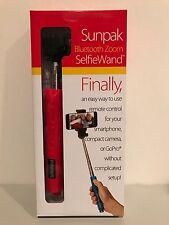 SUNPAK BLUETOOTH ZOOM SELFIE WAND FOR SMARTPHONES CAMERAS & GO PRO RED NEW!