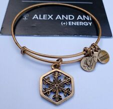 Alex and Ani Snowflake Russian Gold Expandable Bracelet  Retired ❤ Rare