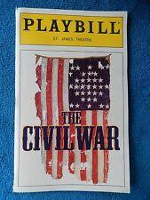 The Civil War - St. James Theatre Playbill w/Ticket - April 2nd, 1999 - Bogart