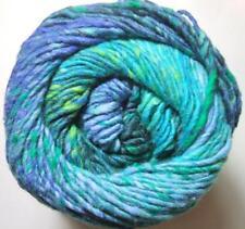 Noro Kagayaki 4 Lot A Wool Cotton Silk Yarn Sky Blue Green
