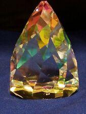 "Vintage Swarovski Crystal Cone Paper Weight 2.25""d 3""h"