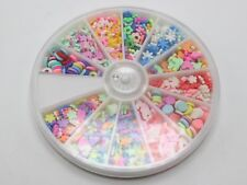 Nail Art Wheel Set 3D Fimo Polymer Clay Slices Nail Art Decals Tips 12 Style