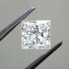Huge 10 X 10 MM 5.25 CT Near White Princess Shape Cut Loose Moissanite 4 Ring