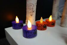 Halloween LED Flameless Flickering Tea Lights Battery Operated Candles 4-40