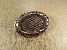 Antique Victorian 10K Gold & Enamel Hair Mourning Brooch Locket, 4.3g
