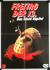 Friday the 13th Final Chapter German video movie poster A2 Das letzte Kapitel