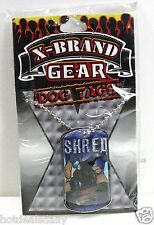 X GAMES X BRAND RAD SNOW BOARD SHRED DOG TAG COOL NECK TAGS GEAR