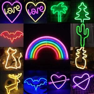Neon Sign Light LED Wall Light Visual Art Bar Lamp Home Kids Room Bedroom Decor