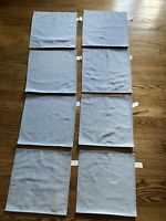 "Set Of 8 Blue Square Placemats 14.75"" X 14.75"""