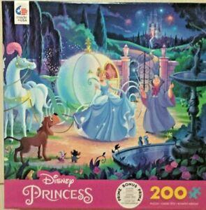 Ceaco Disney Princess Cinderella's Carriage 200 Piece Puzzle With Bonus Poster