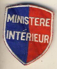 très ancien insigne  tissu ministère de l'interieur