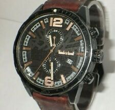 Timberland Men's TBL15256JSB10 Multi-Function Watch w/  Tan Leather Band