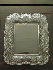 ORNATE ART NOUVEAU CAST GLASS & FROSTED DETAILS FLORAL PHOTO FRAME...LARGE SIZE