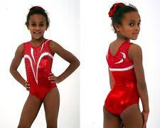 Red Girls gymnastics leotard Size 40 - AXL